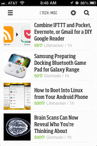 Feedly Feed View
